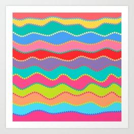 Wavy Dots Art Print