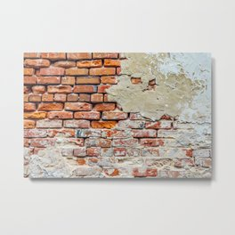 Old Brick Wall Metal Print