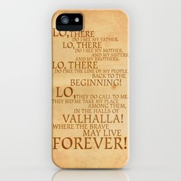 Viking Prayer iPhone Case
