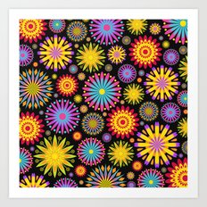 Bright And Colorful Flowers Art Print