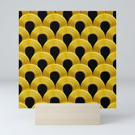 3-D Art Deco Parisian Art Décoratif Pattern Mini Art Print
