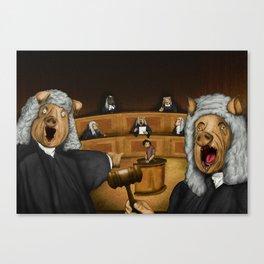 Everybody judges Canvas Print