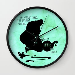 It's What's Inside That Counts Wall Clock