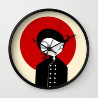 alone Wall Clocks featuring Alone by Volkan Dalyan