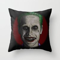 jared leto Throw Pillows featuring JARED LETO by zinakorotkova