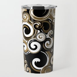Coffee Swirls Travel Mug