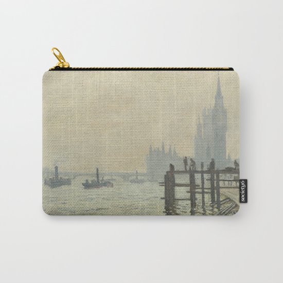 The Thames below Westminster by Claude Monet Carry-All Pouch