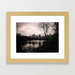 The Park. Framed Art Print