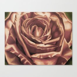 Rose Flower Art Print, pasel drawing, Tea Stain Canvas Print