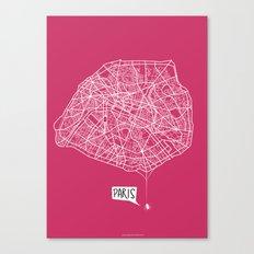 Spidermaps #1 Light Canvas Print