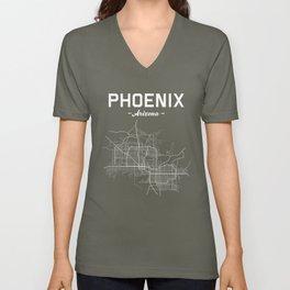 Phoenix, Arizona - b/w Unisex V-Neck