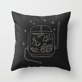 Astronaut Helmet in Water Throw Pillow