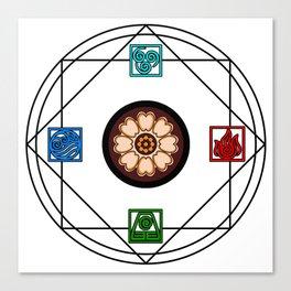 Elemental White Lotus - ATLAS Canvas Print