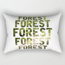 Forest repeat Graphic Rectangular Pillow