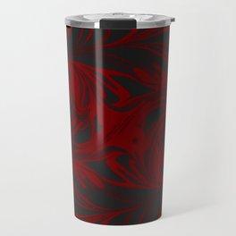 Original Marble Texture - Black Fire Travel Mug