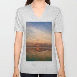 Sunrise on the Horizon Unisex V-Neck
