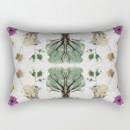 Tree Circle of Life Botanical Watercolor Rectangular Pillow