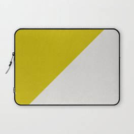 Ogre Yellow & Light Grey - oblique Laptop Sleeve