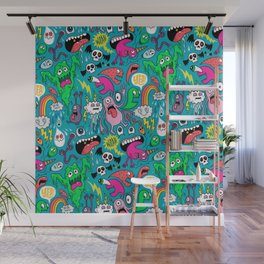Monster Party Wall Mural