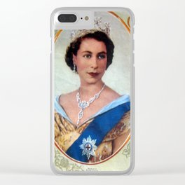 Queen Elizabeth 11 & Prince Philip in 1952 Clear iPhone Case