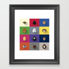 STARWARS SIMPLE Framed Art Print