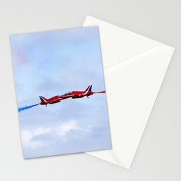 The Red Arrows synchro pair Stationery Cards