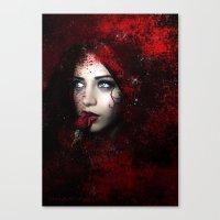 carmilla Canvas Prints featuring Carmilla by BabsArtCreations