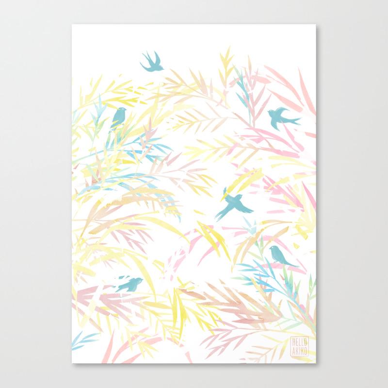 Bamboo Prism Canvas Print by Helloakiko CNV8552008