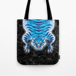 TIBETAN TIGER - BLUE (black) Tote Bag