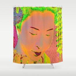 Geisha Pop Art Shower Curtain