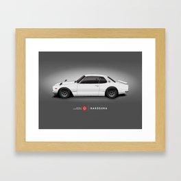 Hakosuka Skyline GTR (White) Framed Art Print