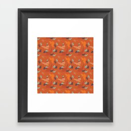 Bird Camouflage at Sunset Framed Art Print