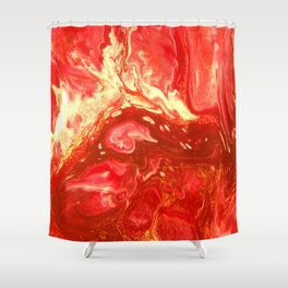 Fluid Nature - Fanning The Flames - Abstract Acrylic Artwork Shower Curtain