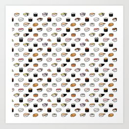 Sushi Lovers Art Print