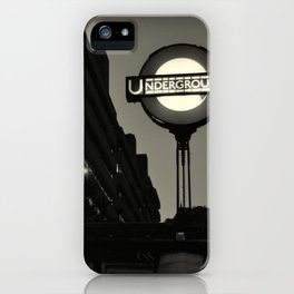 London Temple Undergroung Station iPhone Case