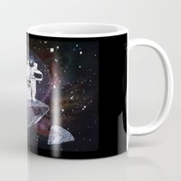 planet of the apes Mugs featuring Meteoric Apes by Tom Bryce
