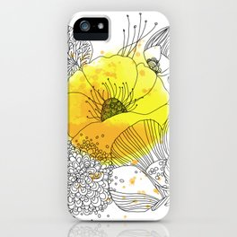 Yellow Floral Burst iPhone Case