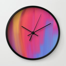 colorful abstract art using mixer brushes Wall Clock
