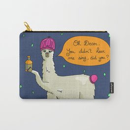 Shower Time for Mr Llama Carry-All Pouch