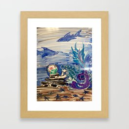 Dreaming Mermaid Framed Art Print