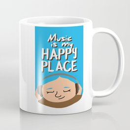Music is my happy place - Blue Coffee Mug