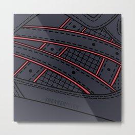 "SNEAKERPILLOW - ASICS GEL LYTE III ""TOTAL ECLIPSE"" Metal Print"