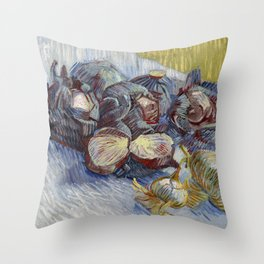 Red Cabbages and Onions, Vincent van Gogh Throw Pillow