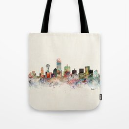dallas skyline Tote Bag