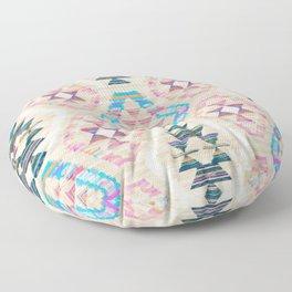 Woven Textured Pastel Kilim Pattern Floor Pillow