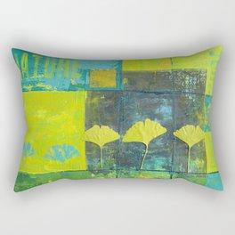 Green nature greenery gingko leaf collge Rectangular Pillow