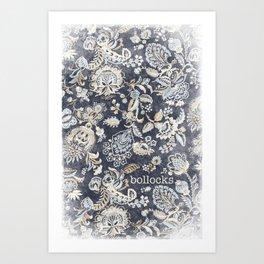 Paisley Bollocks Art Print