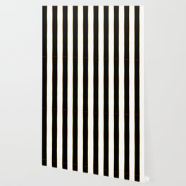 Luxury black and white striped pattern, with thin gold lines. Wallpaper
