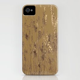 Thin Branches Sepia iPhone Case