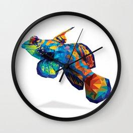 Geometric Abstract Mandarin Dragonette Goby Wall Clock